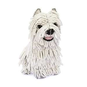 Dog Westie, Sam, Beads Handcraft Art