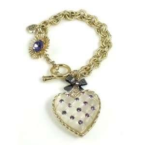 Betsey Johnson Jewelry Tzarna Princess Jeweled Heart Bracelet