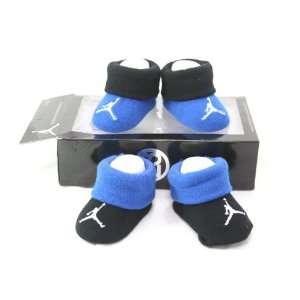 Nike Air Jordan Newborn Infant Baby Booties Socks Black