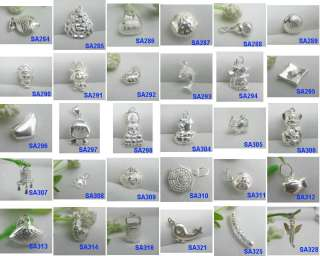 30 Kinds Multiple Choose 925 Sterling Silver Pendant / Charms / Beads