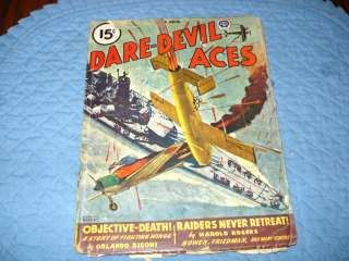 Dare Devil Aces Pulp Magazine,Mar.1946,Popular Pubs.