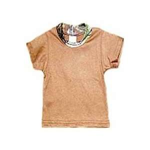 Bonnie & Childrens S/s Brown Tee W/camo Trim Mossyoak Breakup 18   24