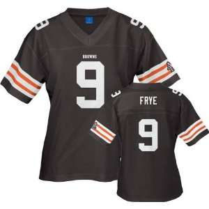 Charlie Frye Reebok NFL Replica Cleveland Browns Womens Jersey