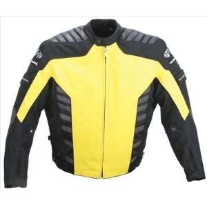 Joe Rocket Airborne Mens Textile Motorcycle Jacket Yellow