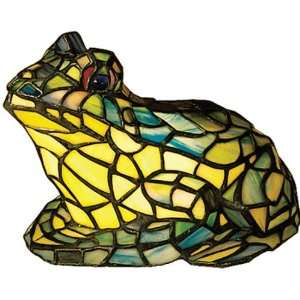 Stained Glass Frog Table Lamp Leaded Hand Cut