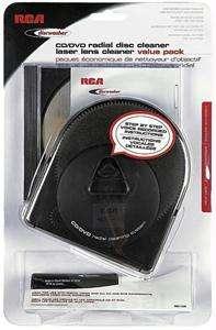 RCA CD/DVD Radial Disc / Laser Lens Cleaner Value Pack