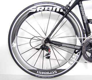 STRADALLI LIMITED Ed SRAM RED BLACK CARBON ROAD BIKE 56