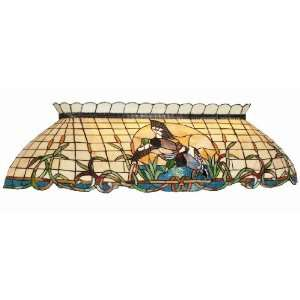 Mallard Stained Glass Pool Table Light