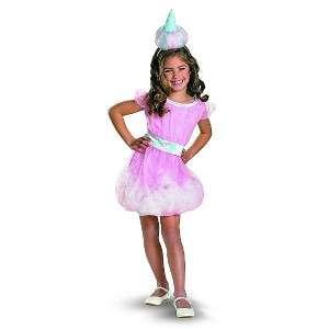 New Girls COTTON CANDY Land Pink Dress Halloween Costume Sz S 4 6X NWT