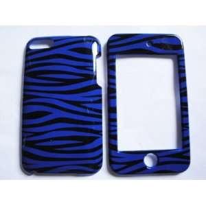 Ipod Touch 2nd 3rd Generation Zebra Blue Black Design Case