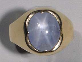 Gorgeous Star Sapphire 14kt Gold Ring Natural
