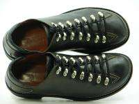 DONALD PLINER Black ULLOCK Quick lace up Leather Sneakers Shoes Mens 8