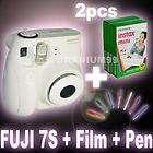 Instax Mini 7S White Polaroid Camera + 20Film + Polaroid Miffy Pen