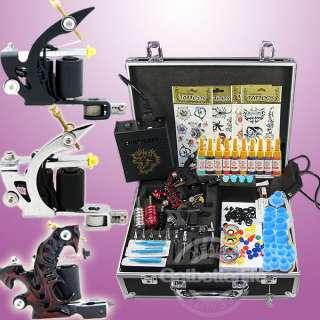 Kit 3 Machine Guns Power 10 Inks Needles Set Equipment Supplies