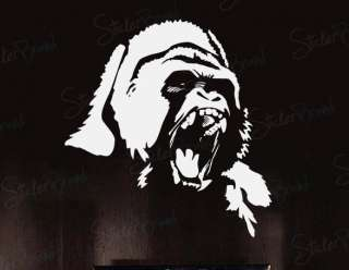 Vinyl Wall Decal Sticker White Gorilla Face White only