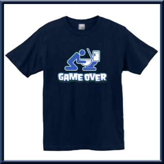 Game Over Funny Drinking Puking Shirt S XL,2X,3X,4X,5X