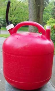 Eagle 5 GALLON GAL GAS GASOLINE Can Red Plastic w VENT CAP & SPOUT