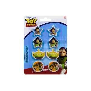 Toy Story 8Pk Shaped Erasers On Blister Case Pack 72