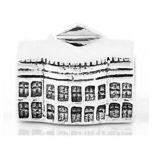 Sterling Silver White House Travel European Bead Jewelry