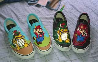 HAND PAINTED SUPER MARIO BROTHERS KIDS SHOES **