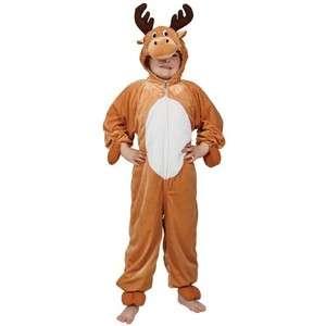 Reindeer Fancy Dress Childs Christmas Rudolf Boys Girls Animal Costume
