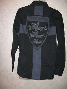 mens raw 7 royalty dragon shield shirt S nwt