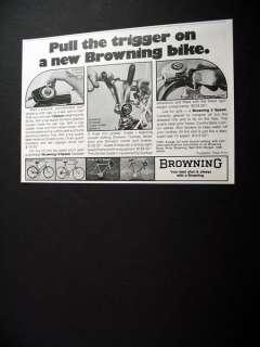 Browning 3 5 10 Speed Bicycle bike 1974 print Ad