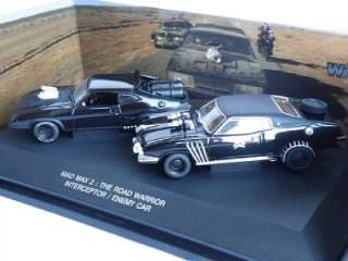 MAD MAX 2 THE ROAD WARRIOR INTERCEPTOR & ENEMY CARS SET RARE EDITION