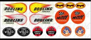 Dooling~Tether Car~Thimble Drome~Mite~WaterSlide Decals