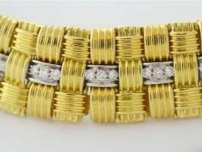 Roberto Coin Appassionata Bracelet 18k Gold & Diamond