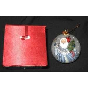 Glass Ball Christmas Tree Santa Ornaments + Box