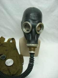 Russian black gas mask GP 5 + tube/hose