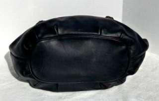 498 MICHAEL KORS BRAIDED GROMMET LARGE SHOULDER BAG BLACK LEATHER