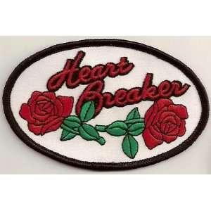 HEART BREAKER LADIES ROSES Funny NEW Biker Vest Patch