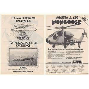 Mongoose Anti Tank Helicopter 2 Page Print Ad (52770)