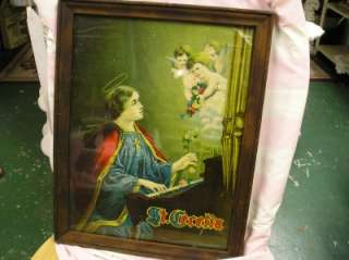 ANTIQUE PICTUREofST.CECELIA~CHERUBS~Shabby~Cottage~Chic