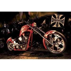 West Coast Choppers Red Bike by Unknown 36x24 Sports