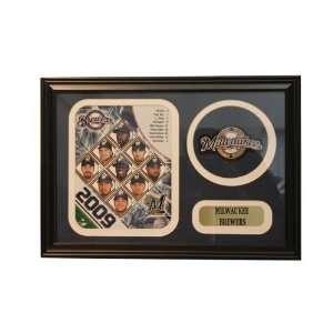 2009 Milwaukee Brewers 12x18 Logo Patch Frame: Sports
