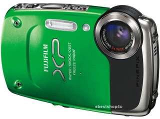 Fuji Finepix XP20 14MP 5 meter Waterproof HD Digital Camera Green
