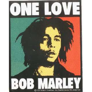 Bob Marley   One Love Tri Color Face   Sticker / Decal