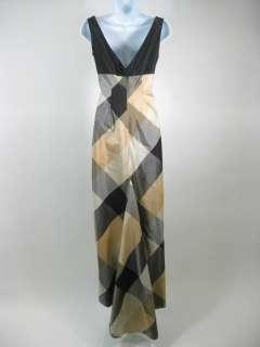 RICHARD TYLER COUTURE Black Beige Sleeveless Dress Sz 6