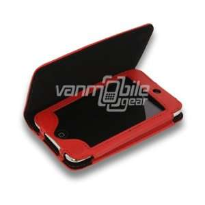Leather Alternative Flip Cover Clutch Carrying Case for Apple iPod