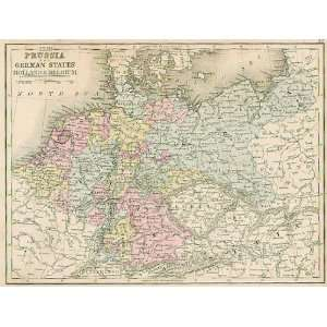 Mitchell 1867 Antique Map of Prussia & the German States