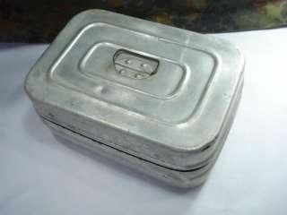 WWII 1943 ORIGINAL GERMAN MESS KIT ALUMINUM FOOD BOX