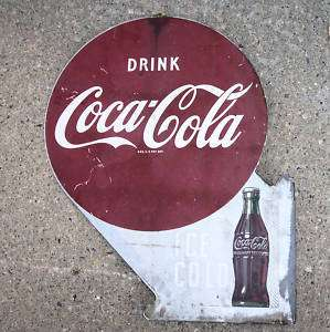 1949 Drink Coca Cola Flange Sign Soda Gas Station