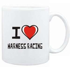 Mug White I love Harness Racing  Sports