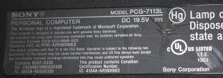 Sony Vaio PCG 7113L 15.4 Screen Laptop PC