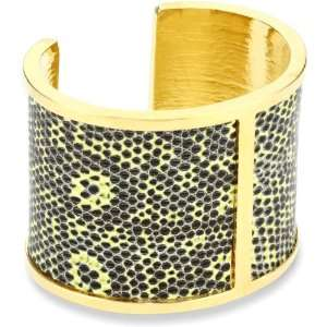 KARA by Kara Ross Middle Divide with Chartreuse Ring Lizard Cuff