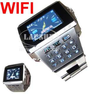 Unlocked Dual SIM Standby Watch Cell Phone WIFI Hidden Camera DVR FM