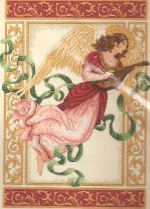 GOLD,ANGELIC MELODY,COUNTED CROSS STITCH FACTORY SEALED